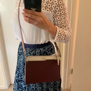 KATE SPADE DOUBLE ZIP CAMERON CROSSBODY CHERRYWOOD
